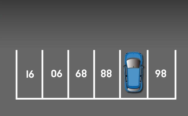 Какое число спрятано под автомобилем на парковке?