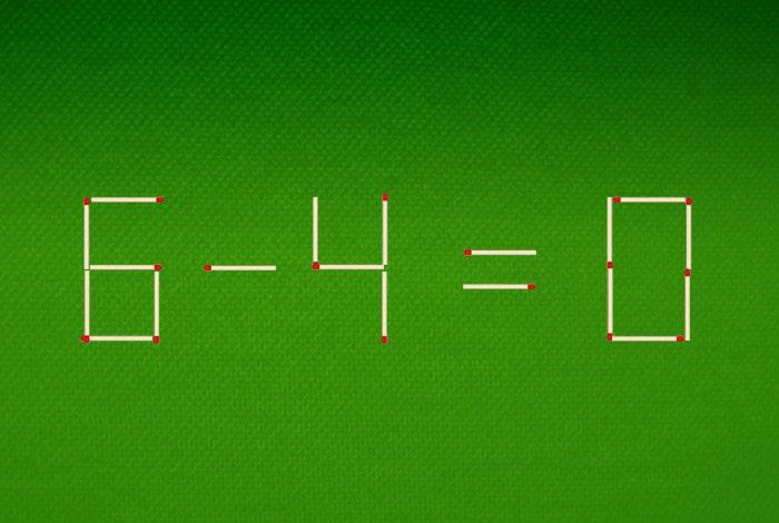 Переложите 2 спички так, чтобы получилось правильное равенство