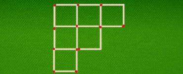 Уберите 6 спичек чтобы получить 3 квадрата