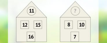 Вставьте недостающее число во втором домике