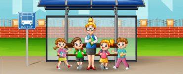 Автобус и семья с восемью детьми