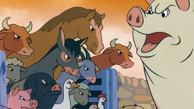 Собрались животные на скотном дворе